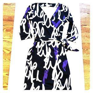DIANE VON FURSTENBERG Wrap Dress Sz 6 New Black